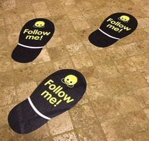 Footprints Floor Graphics