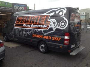 Szukiel Racing Van Graphics