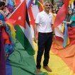 Sadiq Khan Pride London Crowd Banner