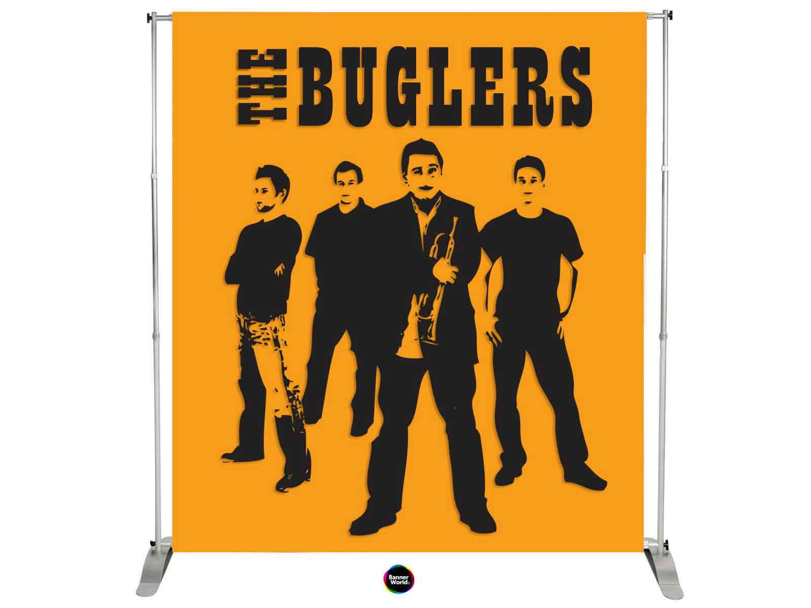 Band Banners and Stage Backdrops, any size. Fire rated and fully ...