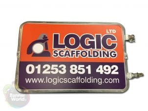 Scaffold Sign and Frame