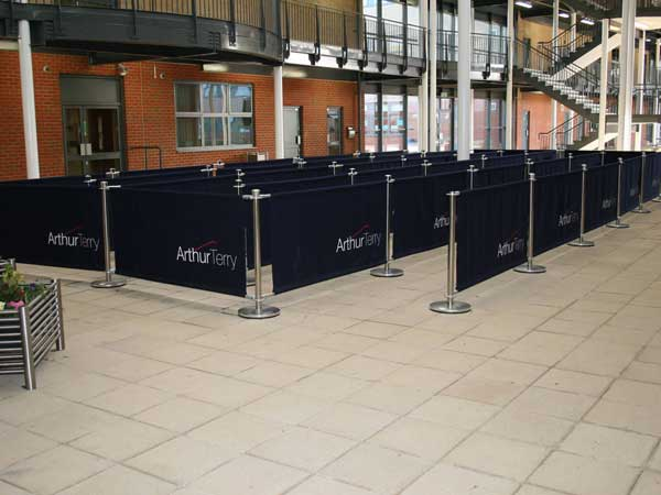 Cafe Barriers Moveable