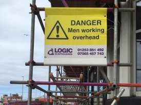 Double Sided Scaffold banner