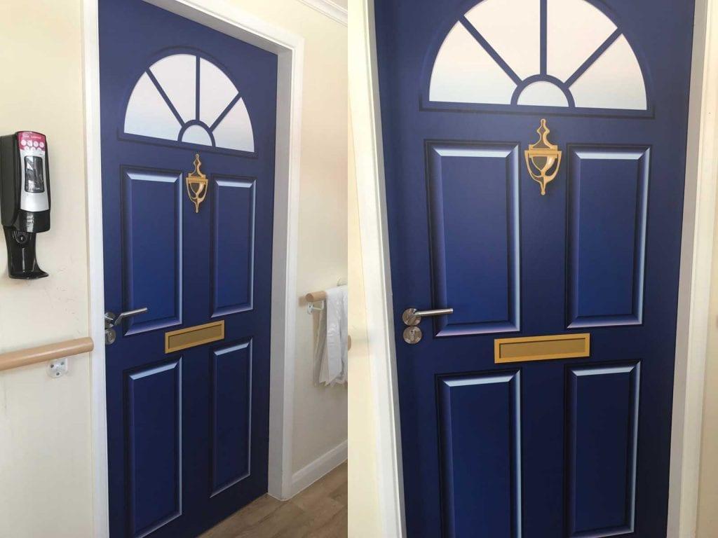 Dementia Door Wraps Project 70 Door Vinyls Supplied
