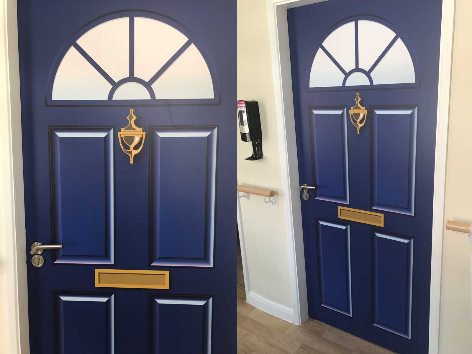 Dementia Door Wrap For Care Homes And Hospitals