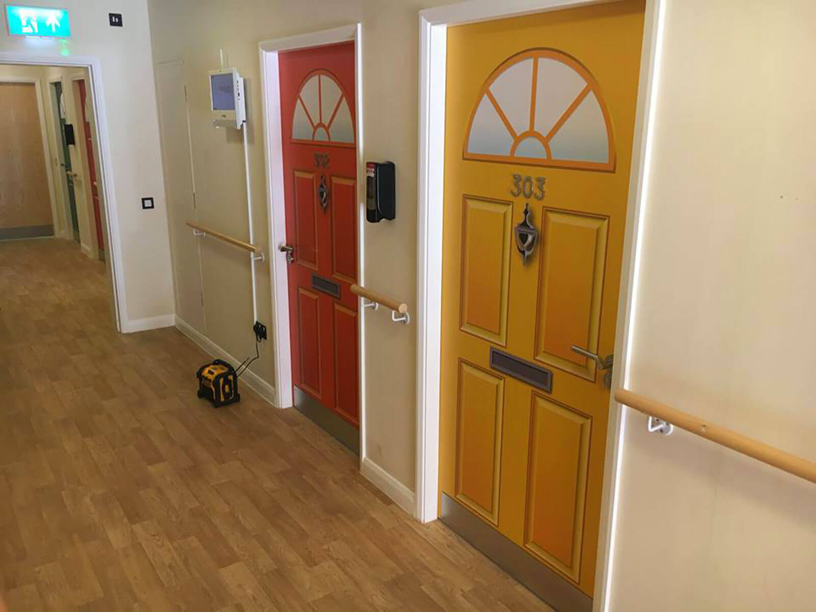 Dementia friendly door wraps for care homes and hospitals