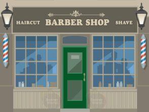 Barbers Dementia Wall Mural