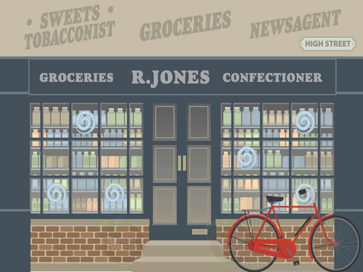 Grocers Dementia Wall Mural