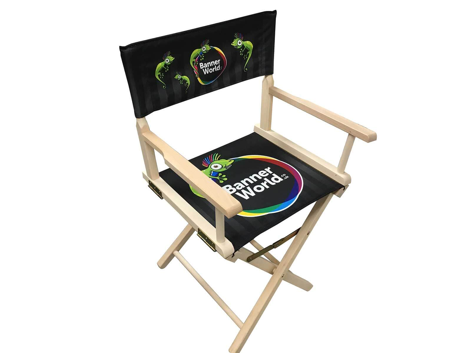Personalised Directors Chair Full Colour Printed from your design