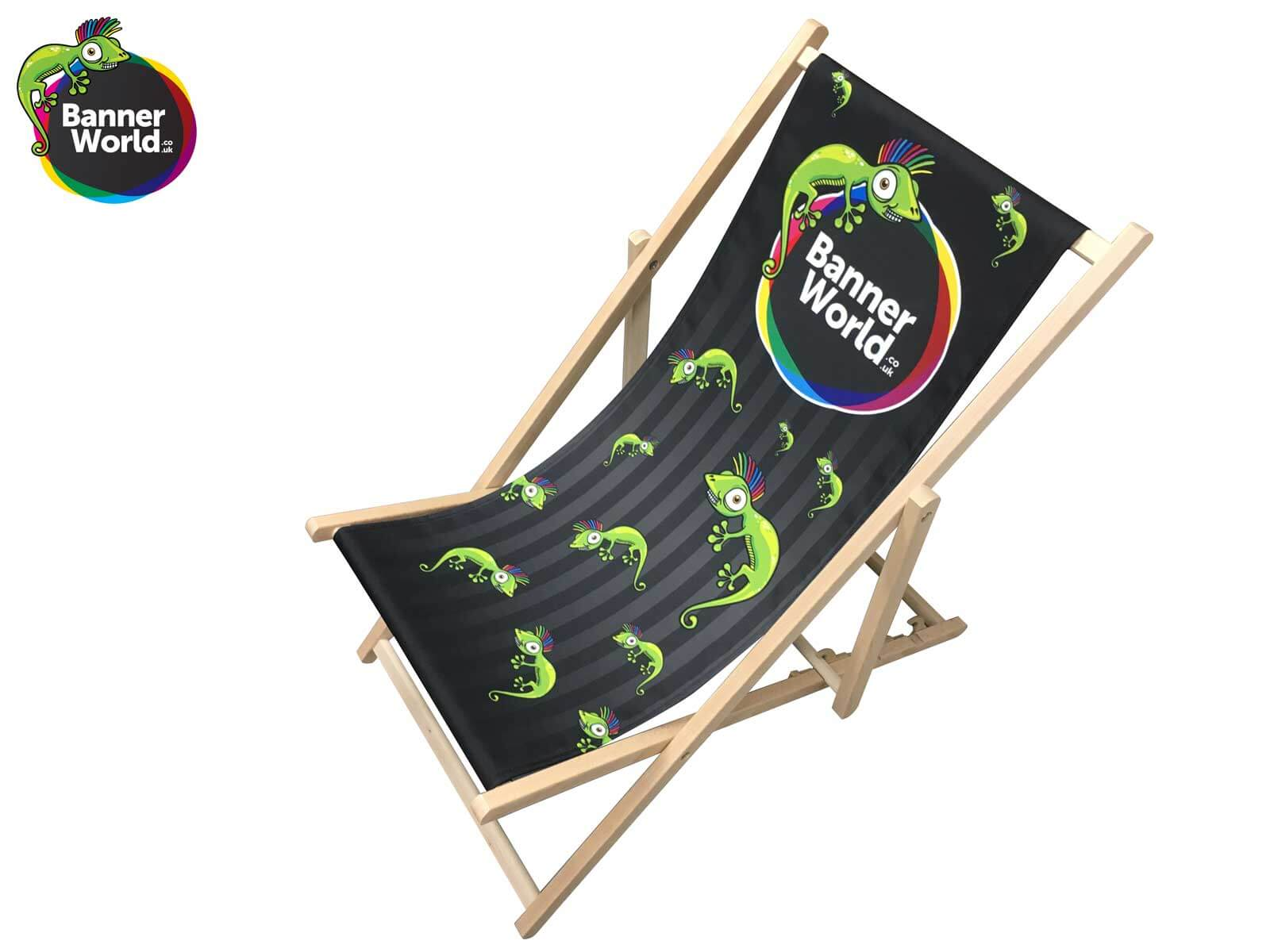 Branded Deck Chairs Full Colour Printed Personalised Deck Chairs