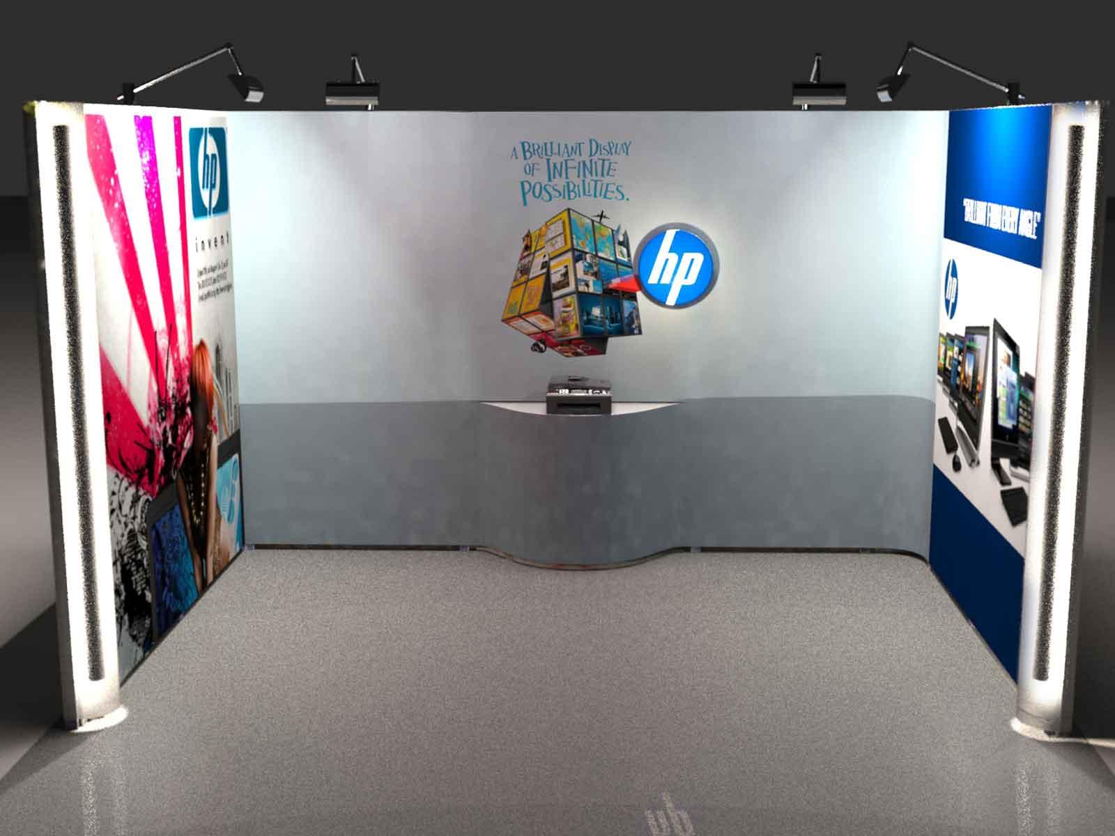 Exhibition Shell Scheme Graphics : Shell scheme graphics enhance plain exhibition backdrops