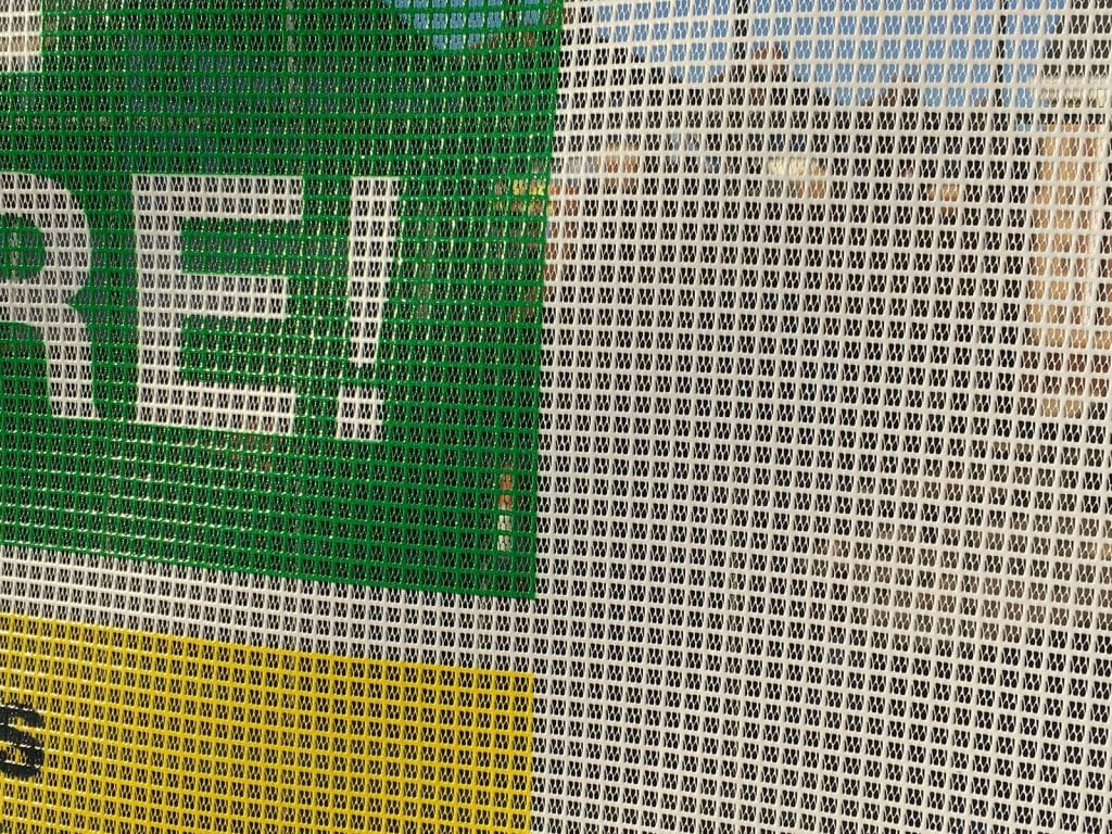 Printed mesh fencing fabric or pvc to any size full