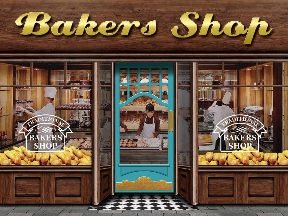 Bakers shop dementia friendly wall mural