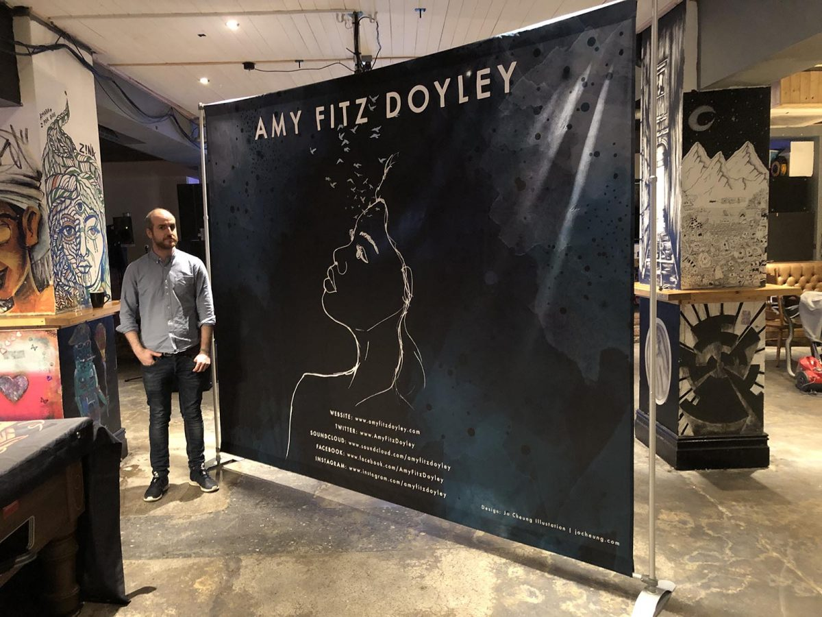 Printed Band Backdrop Stand