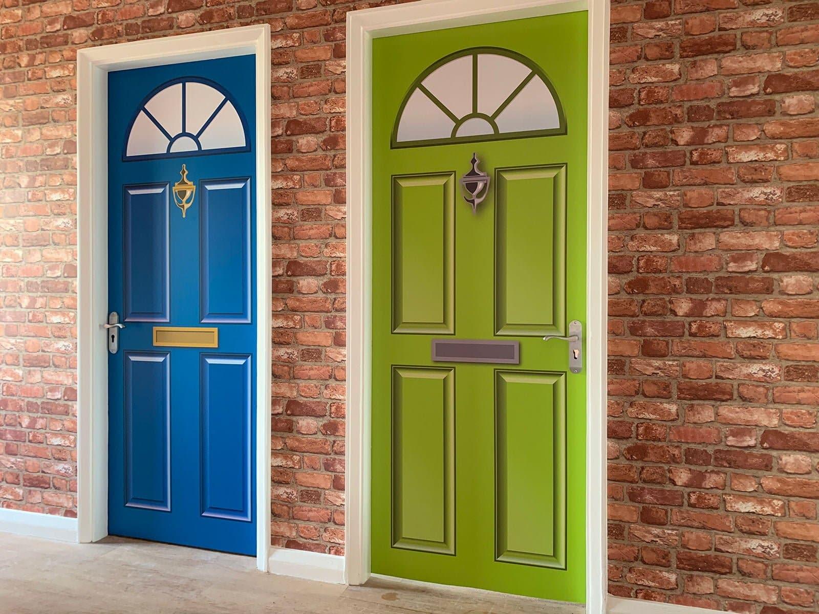 Dementia Care Home Door Wrap