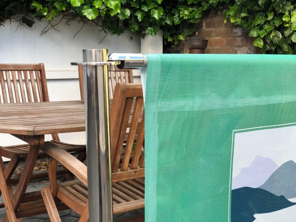 Banner System for Cafe Mesh Banner