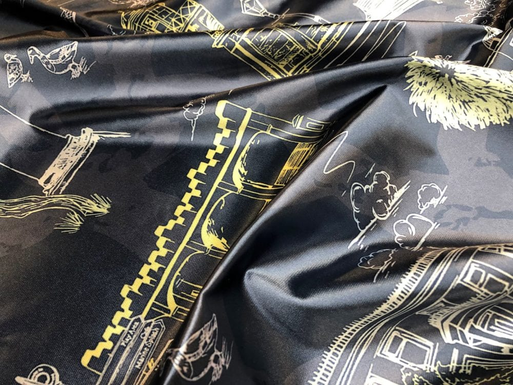 fabric printing on satin