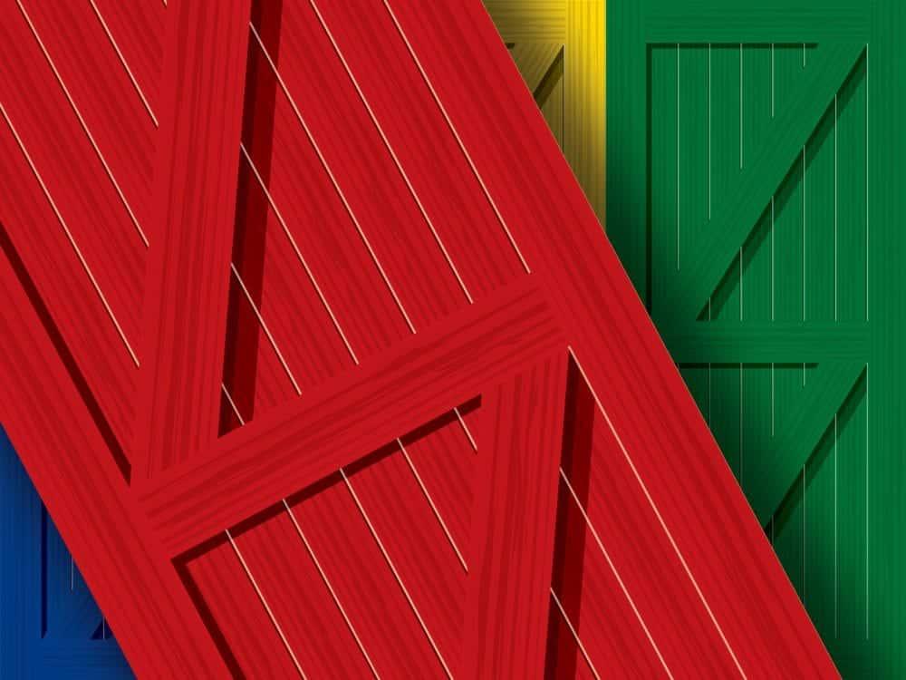 Country Door Wrap Close-up