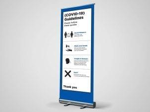 guidelines sociola distance roller banner