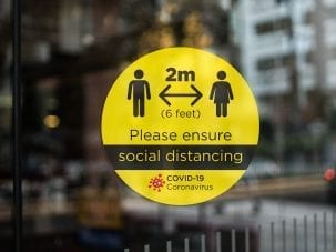 Social Distancing Window Graphic 1