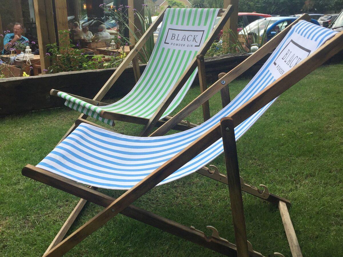 Personalised deckchairs