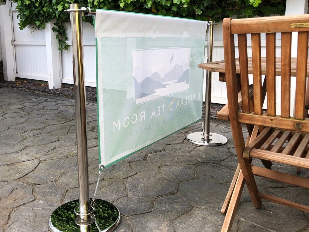 face Printed Cafe Banner in Mesh