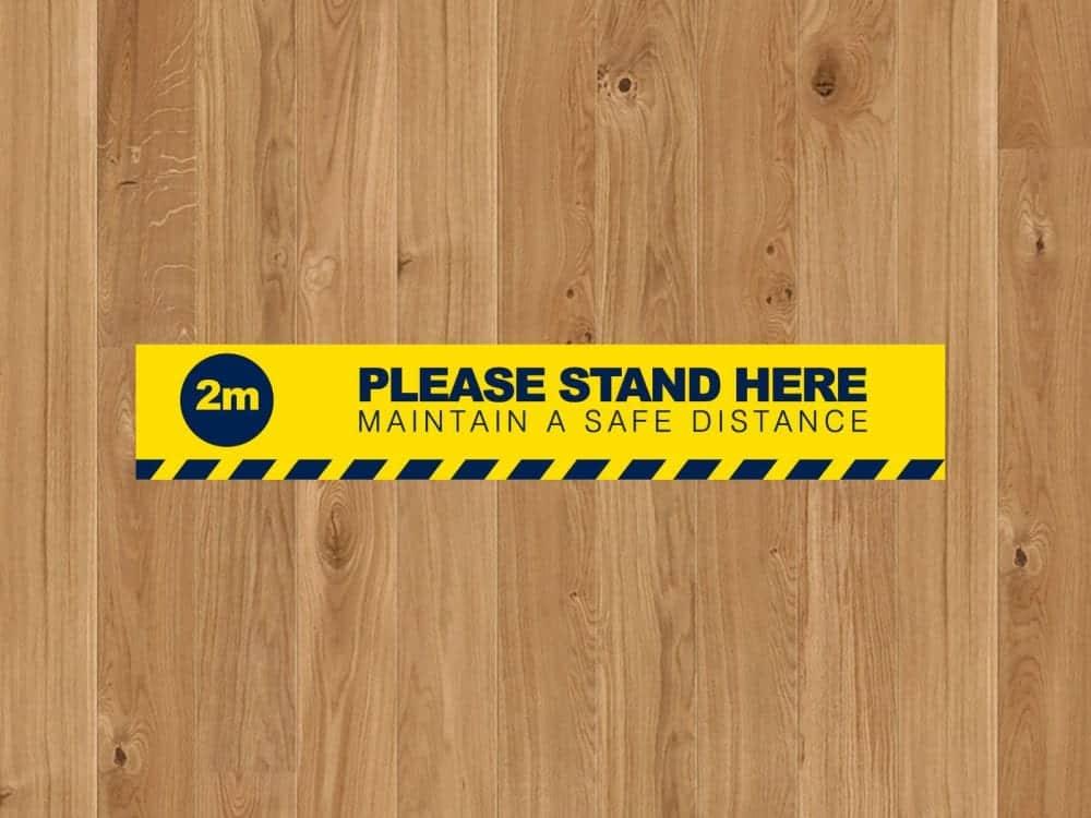 Social Distancing Floor Strip self-adhesive