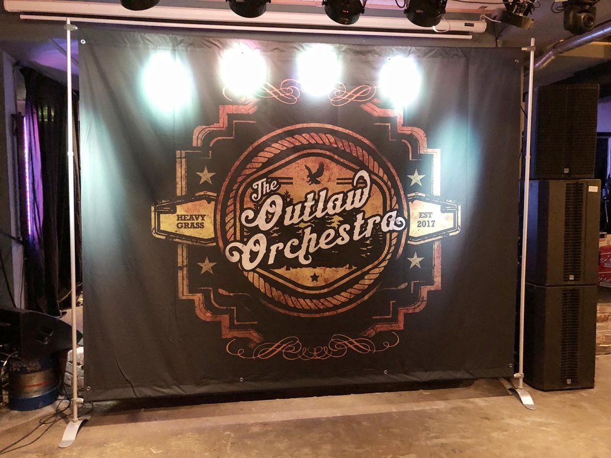 Full Colour Band backdrop with Stand