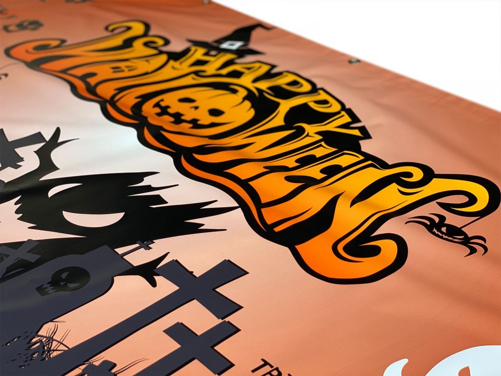Halloween Banners Close Up