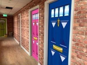 Realistic door wrap
