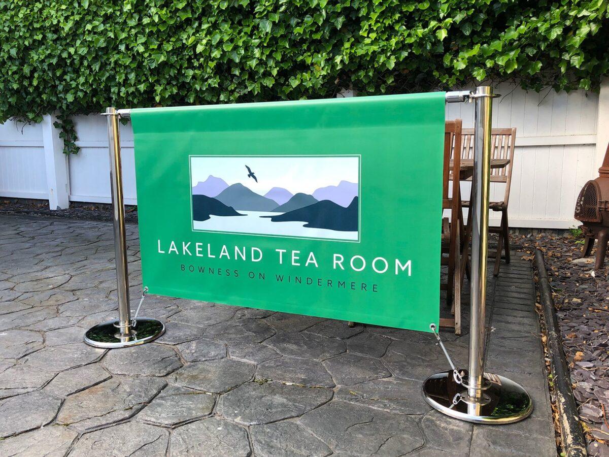 Banner System for Cafe