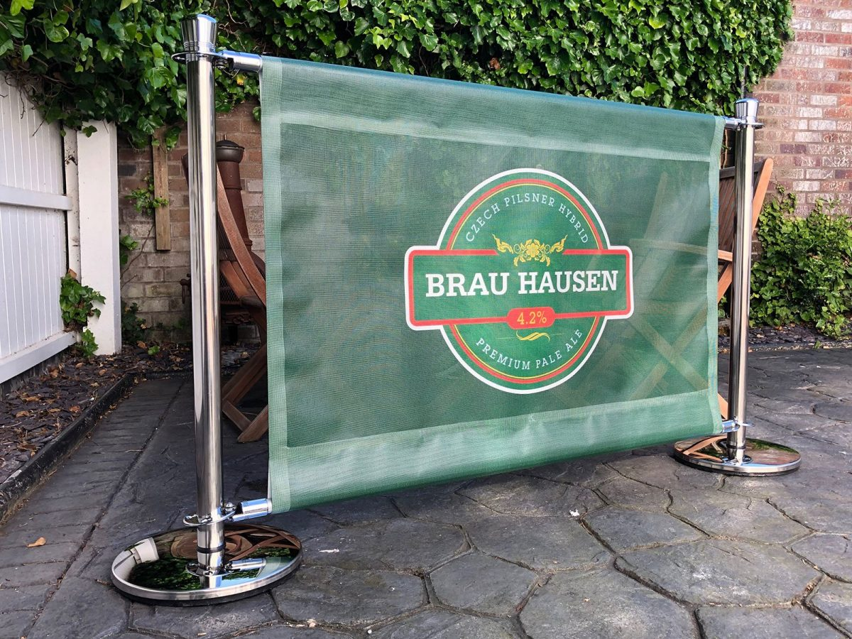 Mesh Full Colour Banner with Pole Pockets