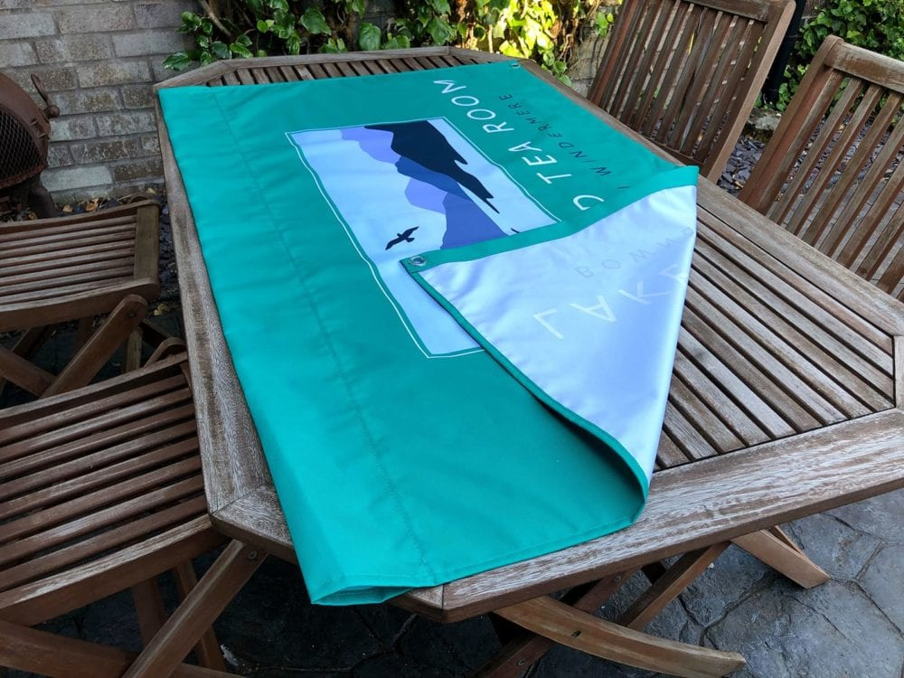 Banner printing for outside seating area