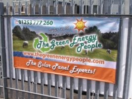 Full colour PVC fence banner