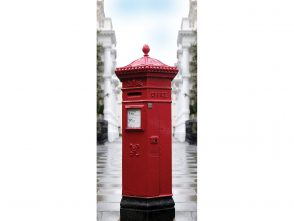 Post box exit diversion door wrap