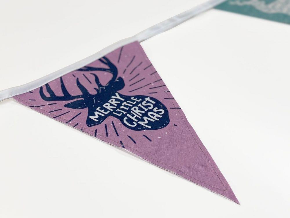 Close-up printed bunting