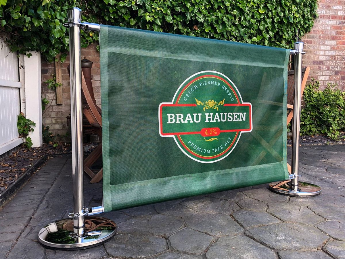 Premium Cafe Barrier System mesh banners