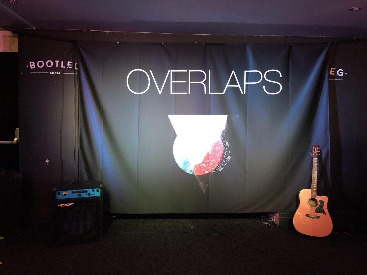 Full Colour Printed Band Backdrop