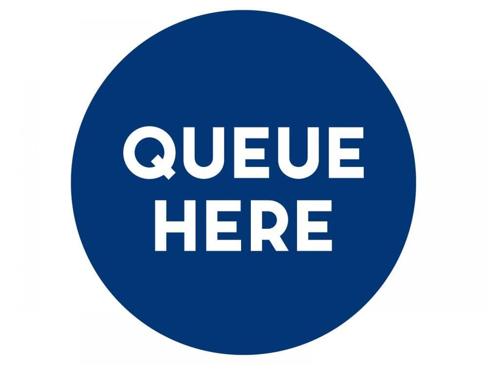Queue-here-BLUE
