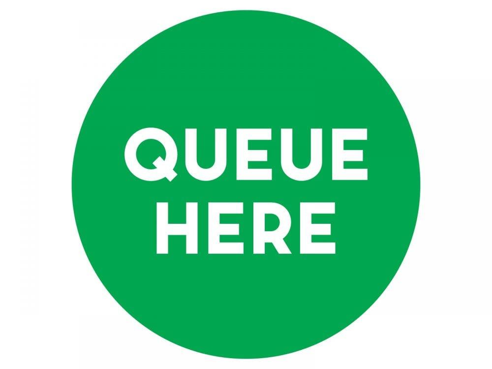 Queue-here-GREEN