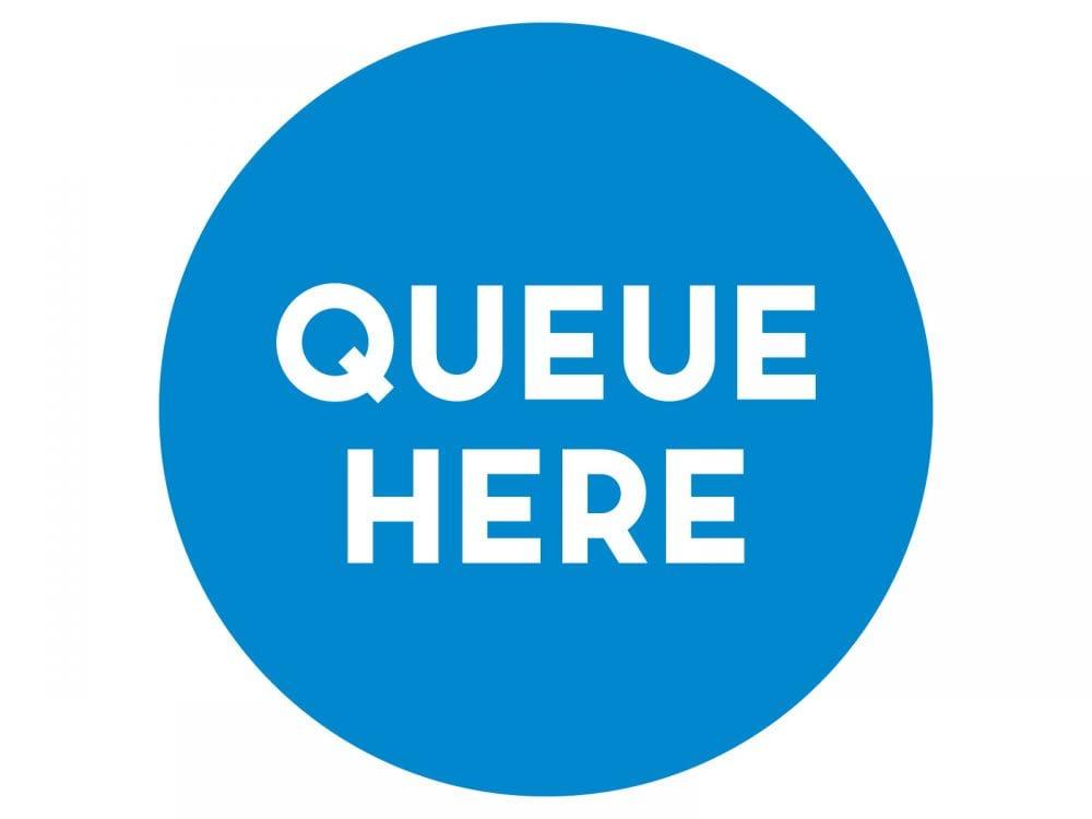Queue-here-LIGHT-BLUE