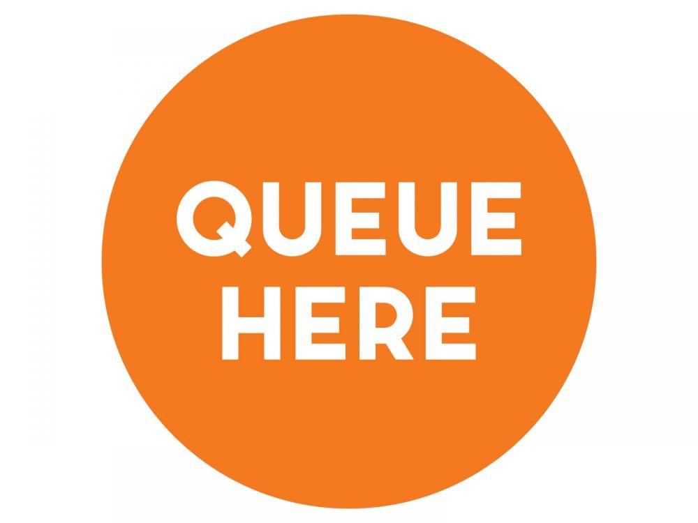 Queue-here-ORANGE