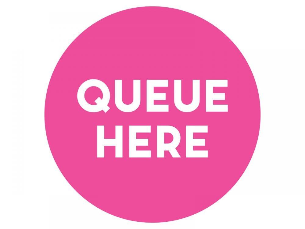 Queue-here-PINK