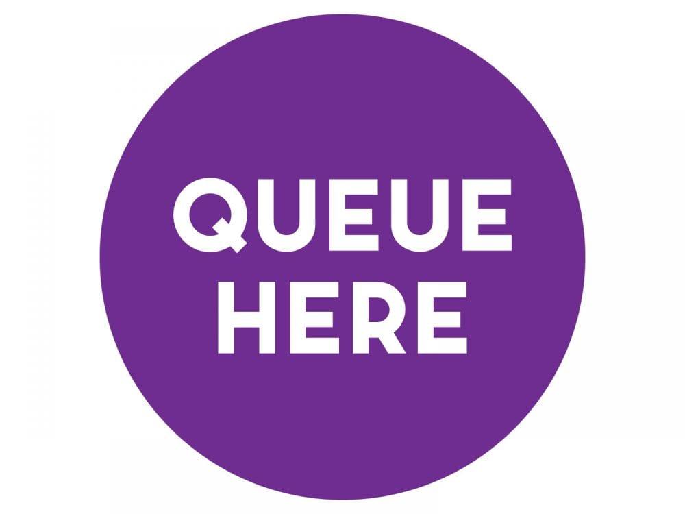 Queue-here-PURPLE