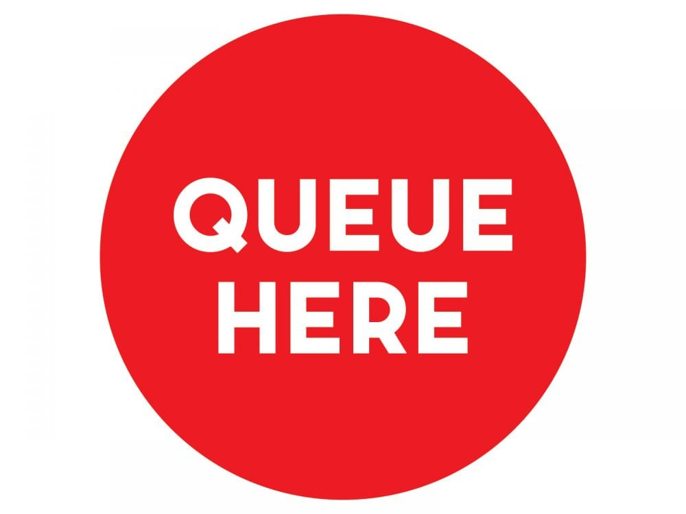 Queue-here-Red