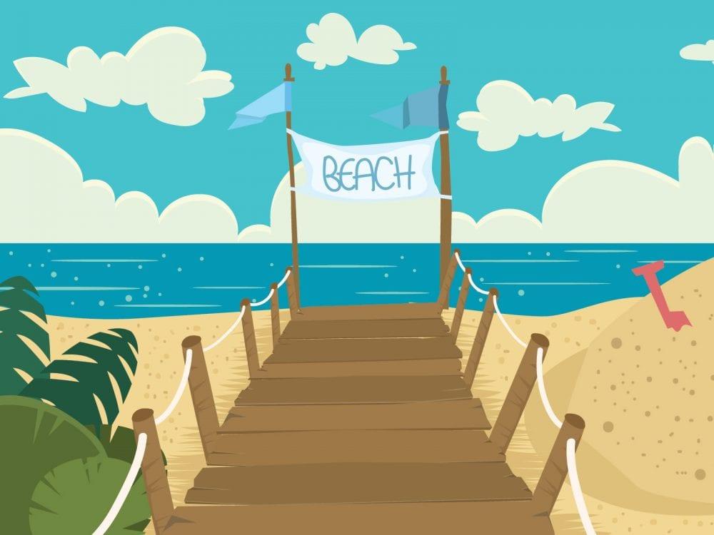 Sandy beach Dementia Friendly Wall Mural
