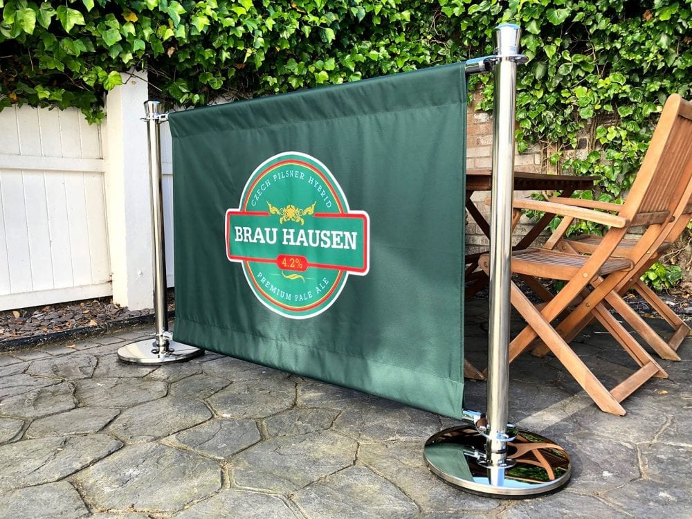 Fabric Banner for Cafe Barrier System