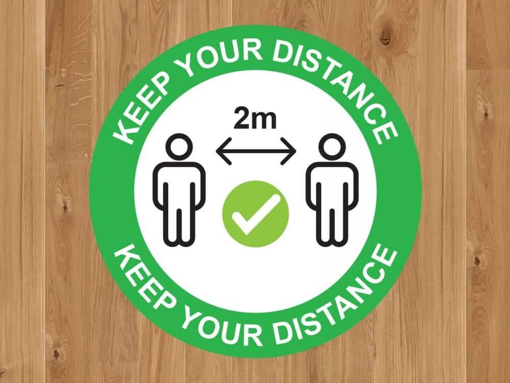 Keep Your Distance Floor Marker