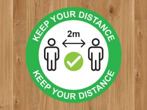 Keep Your Distance Floor Marker
