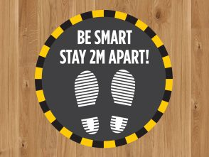 Be Smart Floor Graphic